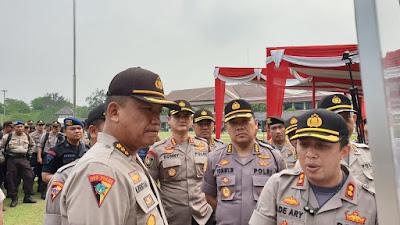 Karo Ops Polda Banten, Pimpin Anev Dan Apel Pengamanan Tahap Pungut Suara Pilkades Kab. Tangerang