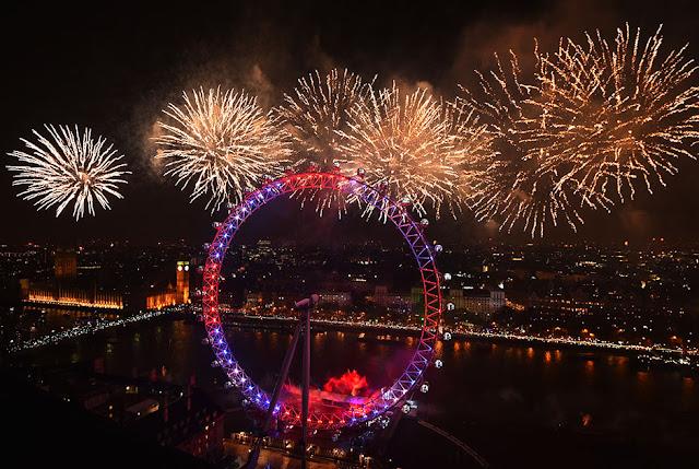Fogos de artifício em Londres
