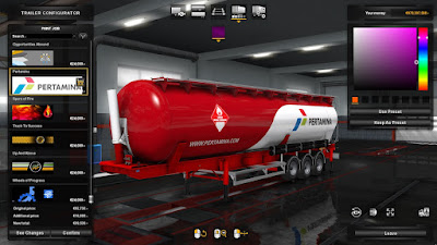 Pertamina Skin for Feldbinder KIP Trailer Pack