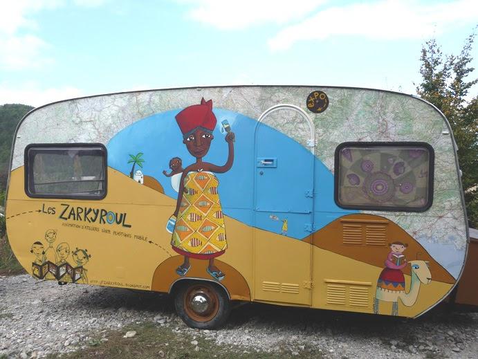 caroline palayer peinture de la caravane des zarkyroul. Black Bedroom Furniture Sets. Home Design Ideas