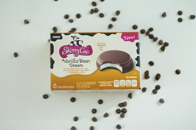 Skinny Cow Chocolately Dipped Ice Cream Sandwiches in Vanilla Bean Dream