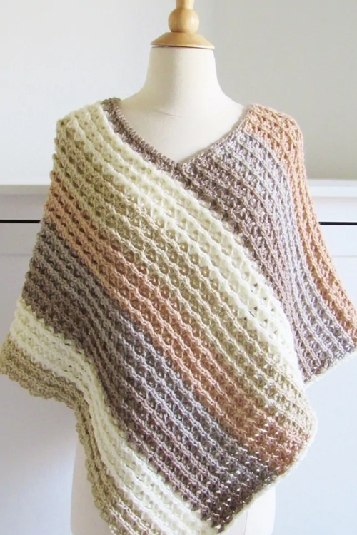 Sunset Poncho - Free Crochet Pattern