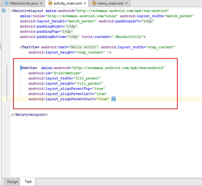 Create First Webview In Android Studio
