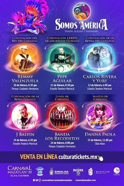 artistas carnaval mazatlán 20202