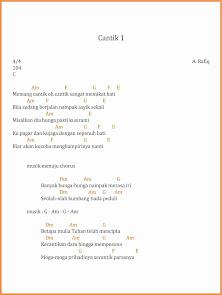 chord cantik 1 a. rafiq