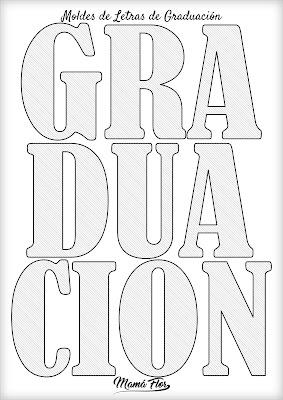 Molde de letras de Graduación