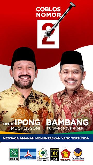 Bangga Indonesia, Paslon Ipong - Bambang ajak ke TPS pakai Batik, Coblos Batiknya  !!