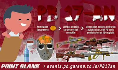 Event PB Garena 17an Balap Karung Hadiah Senjata dan Cash PB Garena Gratis