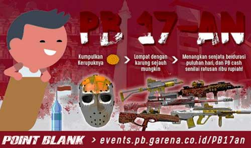 Event PB Garena 17an Balap Karung Hadiah Cash Gratis