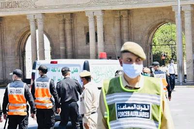 """بالصور..هكذا مرت مراسيم دفن جثمان الزعيم الراحل عبد الرحمن اليوسفي """"مهندس تجربة التناوب التوافقي"""" بمقبرة الشهداء✍️👇👇👇"""