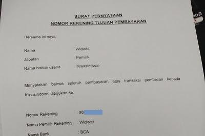 Cara Buat Surat Pernyataan No Rekening Bank