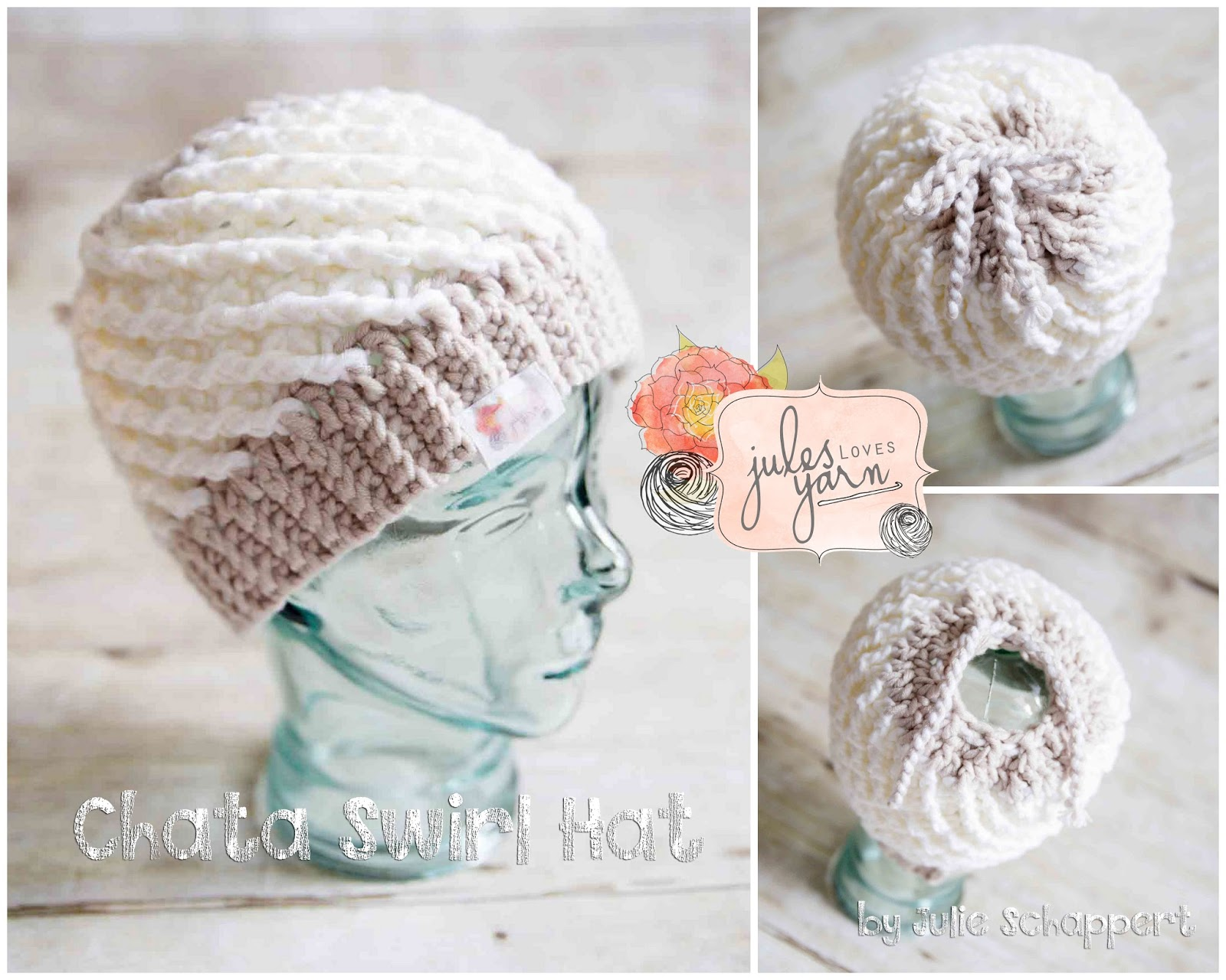 Welcome to Jules Creations!  Chata Swirl Hat  Crochet Pattern  3b79973611d