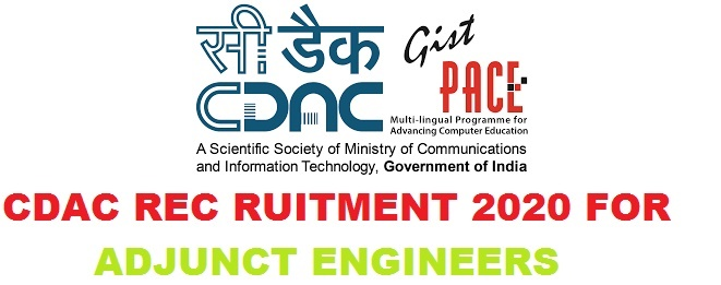 CDAC Recruitment 2020 for Adjunct Engineers 18 Posts Apply Now
