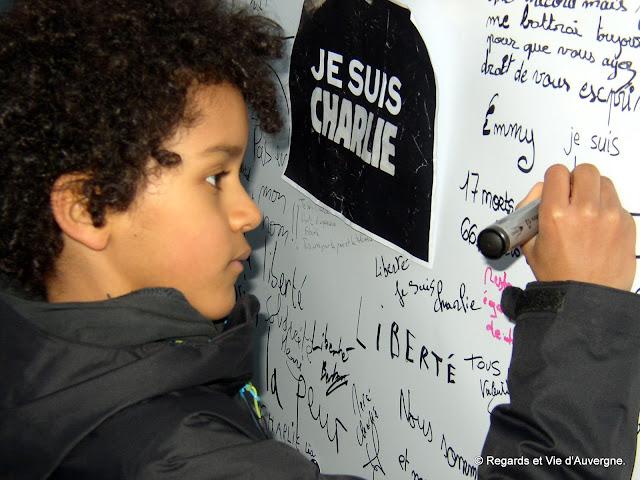 Je Suis Charlie, Clermont-Ferrand 11 janvier 2015.