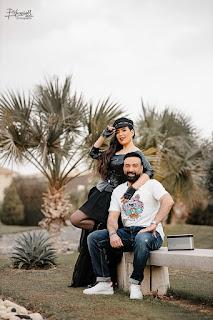 شاهد أحدث جلسة تصوير لـ عبير صبرى وزوجها