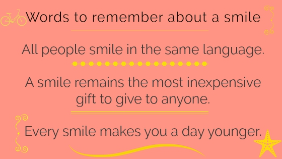 Words to remember about a smile