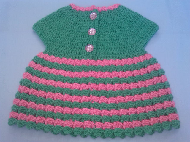 Crochet - Crosia Free Patttern with Video Tutorials: Crochet Baby Dress