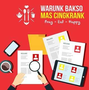 Lowongan Kerja Warung Bakso Mas Cingkrank Makassar