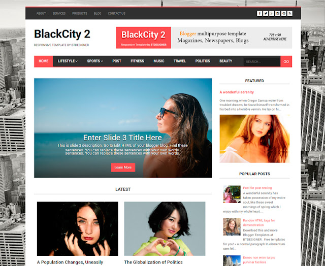 BlackCity magazine template