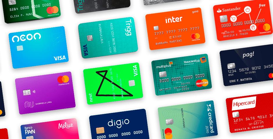 imagens de todos os catoes de bancos digitais