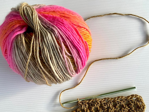 V-Stitch Crochet Infinity Scarf