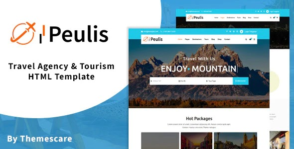 Travel Agency & Tourism Website Template