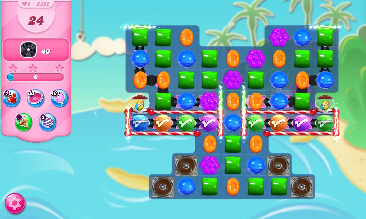 Candy Crush Saga level 5322