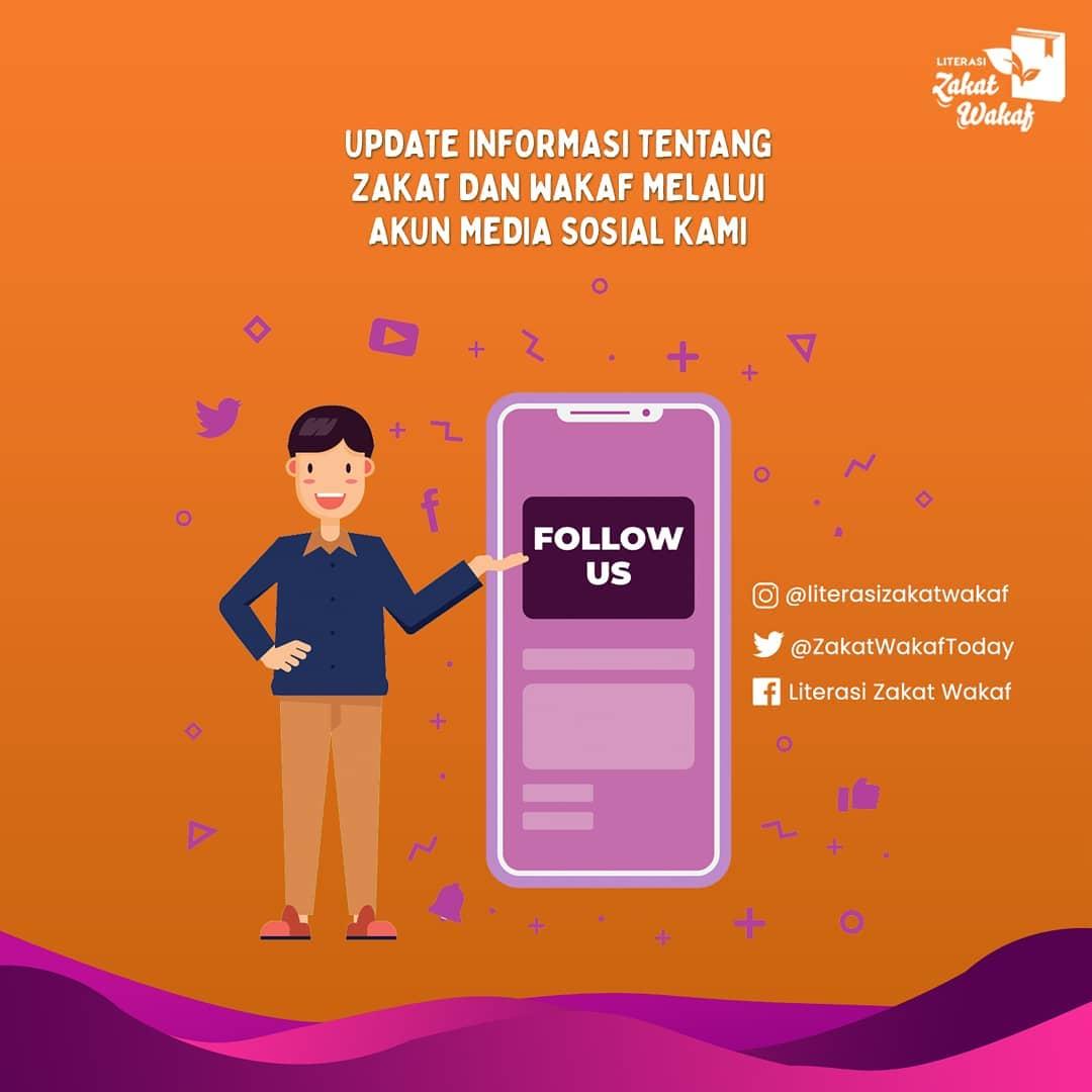 Follow media sosial Literasi Zakat dan Wakaf