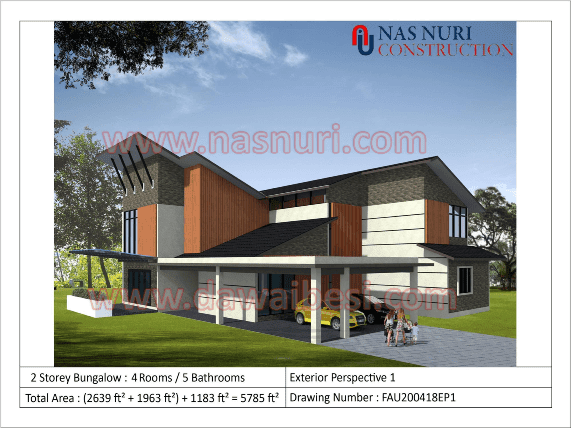 Design Pelan Rumah Banglo 2 Tingkat Koleksi Terkini 2020