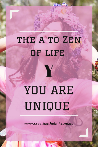 #AtoZChallenge - 2018 and Y is for You are unique, nothing can replace you.