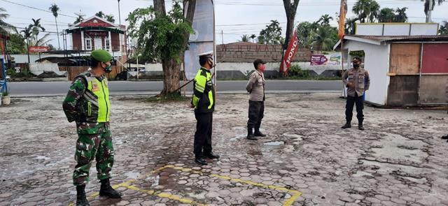Pengamanan Dipos Bersama Tim Gabungan Dilakukan Personel Jajaran Kodim 0207/Simalungun