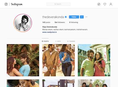Vijay Deverakonda Breaks 5M Followers on Instagram HeyAndhra