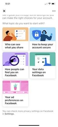 اجعل Facebook Profile خاص Iphone Three