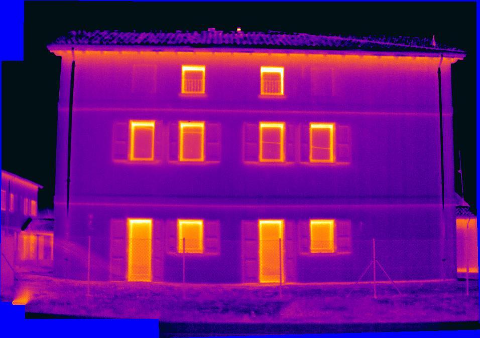 Termografia isolamento a cappotto termico for Costo medio a lato di una casa a 2 piani