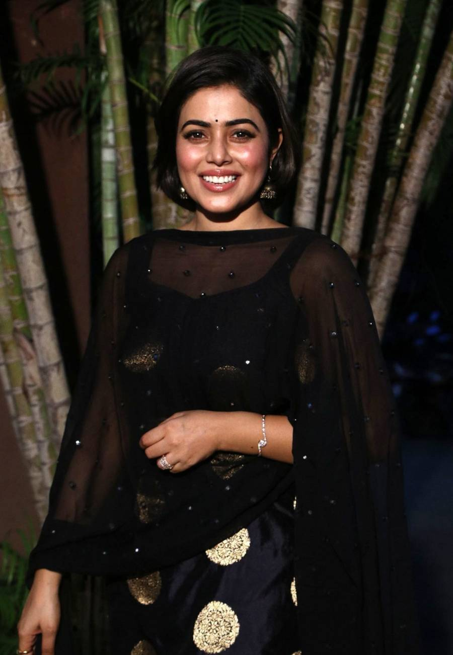 Indian Actress Poorna at Blue Whale Tamil Movie Audio Launch