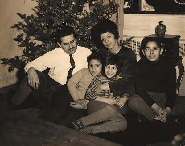 Clara Ledesma y su familia