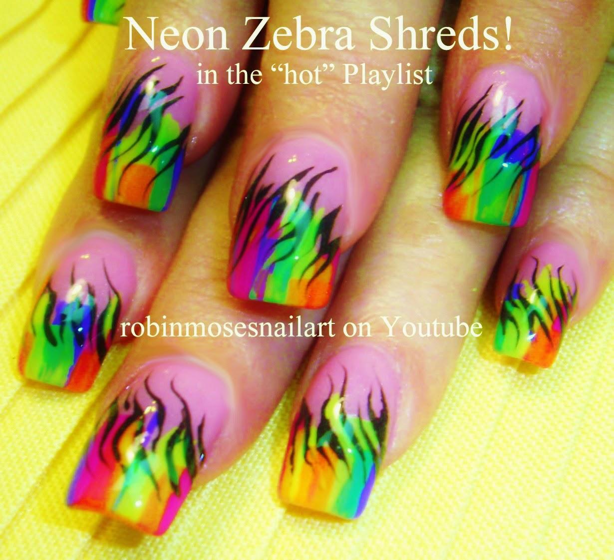 """Robin Moses Nail Art Designs: Robin Moses Nail Art: """"rainbow Nails"""" """"striped Nails"""