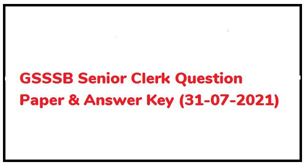 Senior Clerk Exam Paper 2021