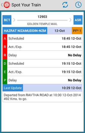 How to track live train running status with NTES android app