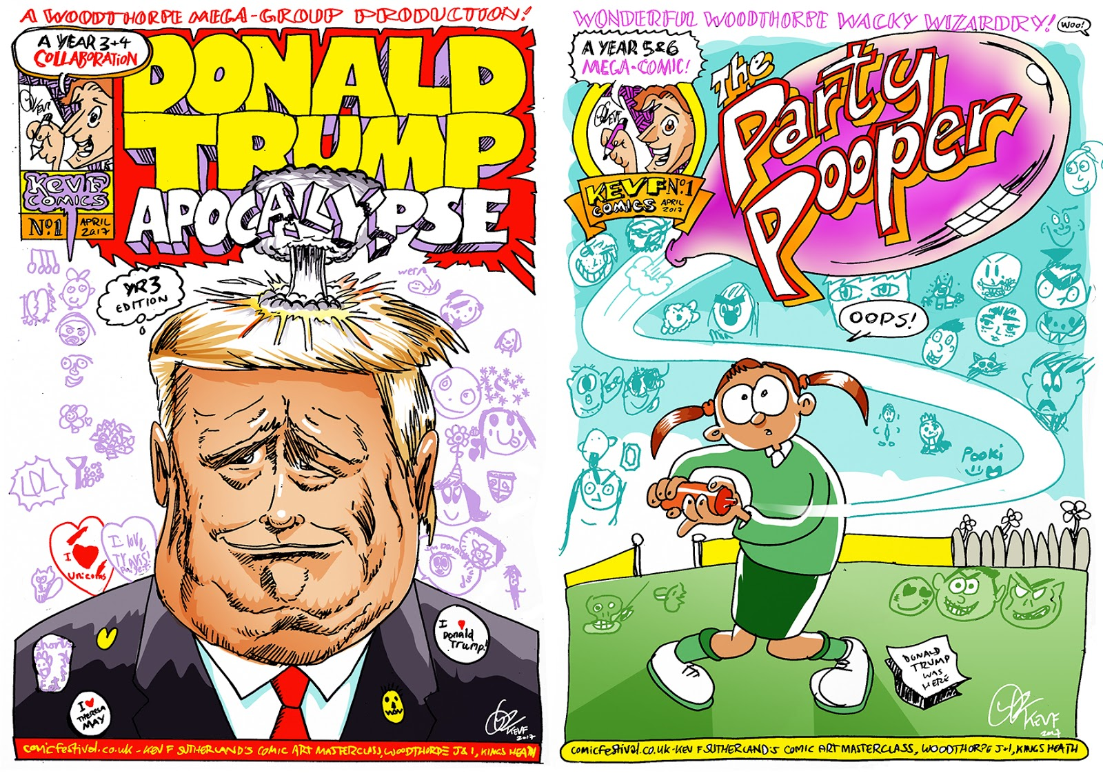 Kev F ic art Donald Trump & Your Nan more ics by kids