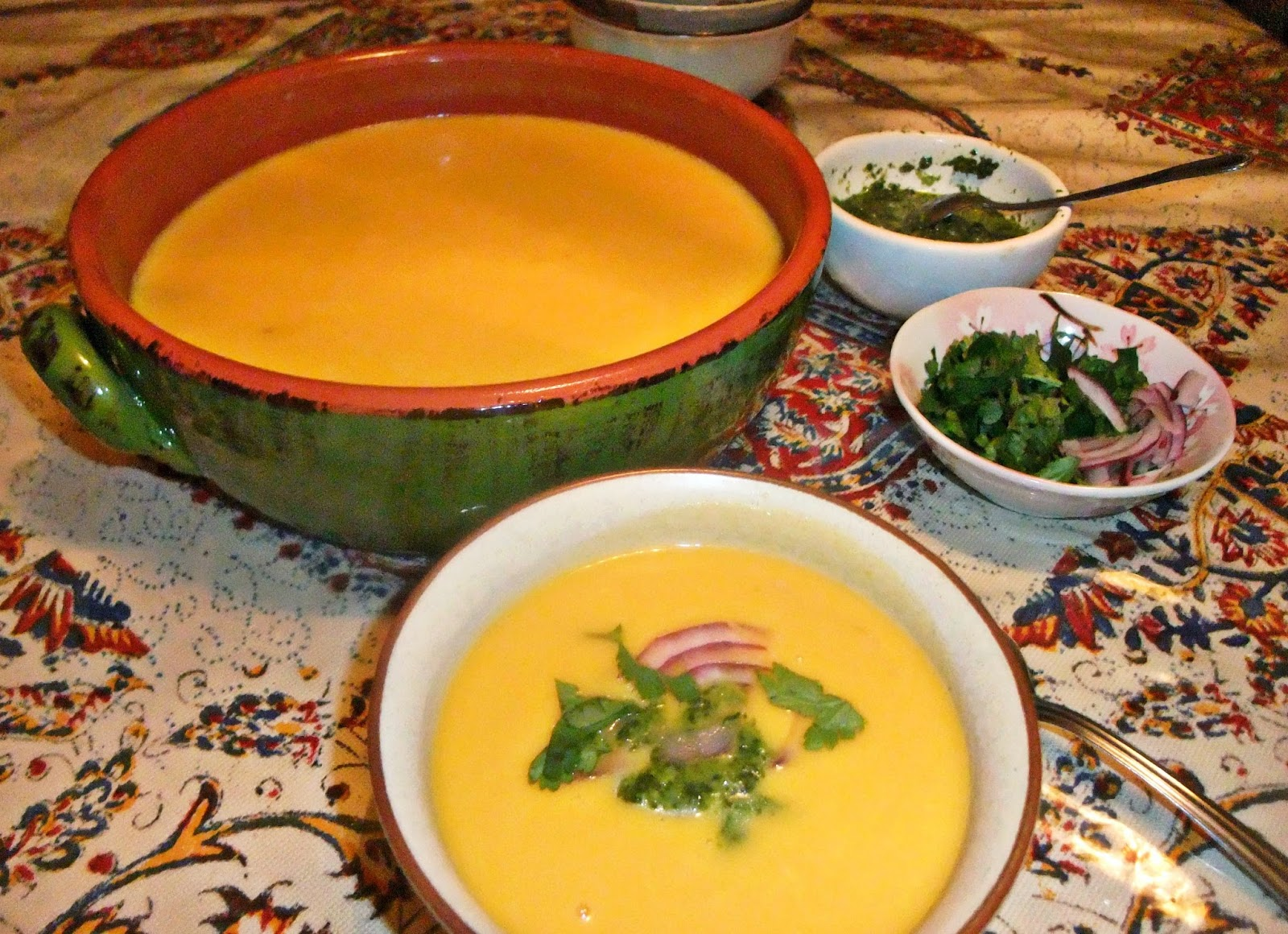 Susan's Savour-It!: Thai-Style Pumpkin Soup with Cilantro ...