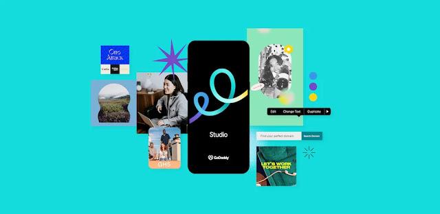 تنزيل GoDaddy Studio  تطبيق لإضافة نص وتحرير الصور للاندرويد