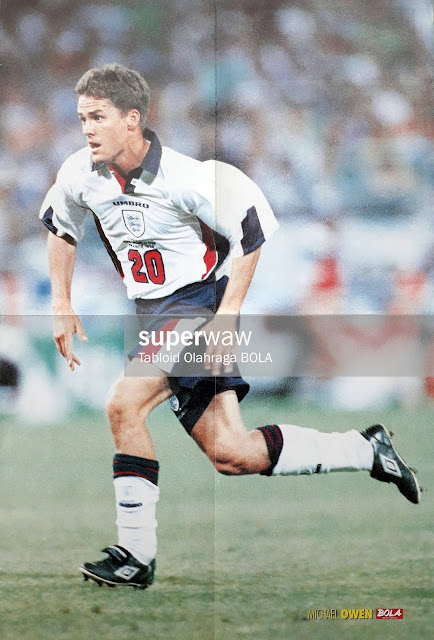 MICHAEL OWEN ENGLAND WORLD CUP 1998