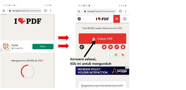 Cara Mengubah Word ke PDF di HP ilovepdf