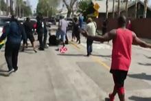 KKK's 'White Lives Matter' rally erupts into vicious brawl
