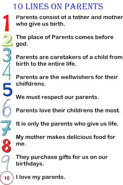 Few Lines on Parents