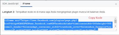 Cara Membuat Dan Memasang Fanspage Facebook Diblog