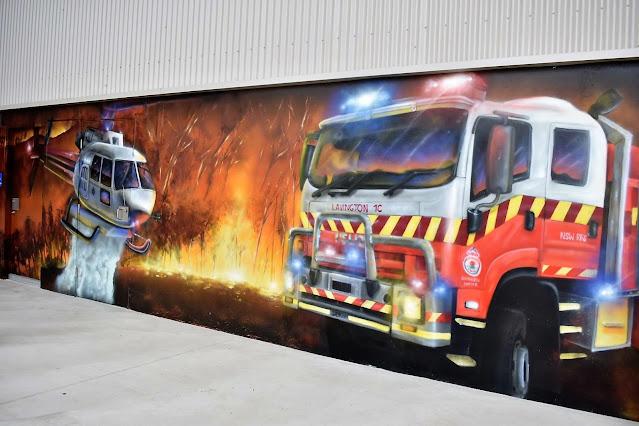Lavington Street Art | RFS mural by Kade Sarte