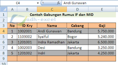 IF and LEFT function in excel