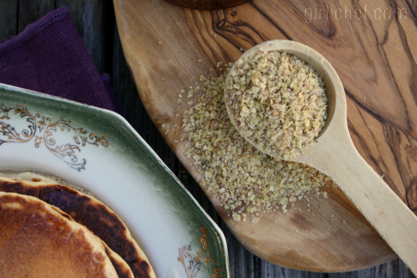 Malted Wheat Germ Pancakes | www.girlichef.com